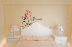 Rose Wall Decal by CompletelyVinylShop on Etsy