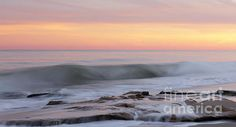 Slow Motion Wave At Colorful Sunset Photograph by Jo Ann Tomaselli - Slow Motion Wave At Colorful Sunset Fine Art Prints and Posters for Sale
