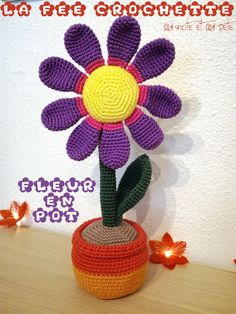 Amigurumi Flower / Fleur