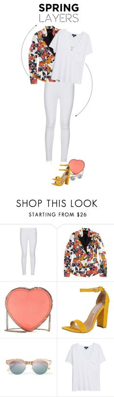 """""""Spring layers"""" by yagmur ❤ liked on Polyvore featuring Paige Denim, Thakoon, STELLA McCARTNEY, Steve Madden, Le Specs, MANGO, Jules Smith, Spring and springlayers"""