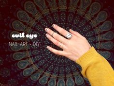 Evil Eye Nail Art | DIY #evileye