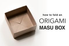 Learn how to fold an Origami Masu Box with this easy to follow step by step photo tutorial. This traditional box is among the simplest models to fold.