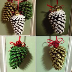 A personal favorite from my Etsy shop https://www.etsy.com/listing/255267273/rustic-painted-pinecone-set-of-3