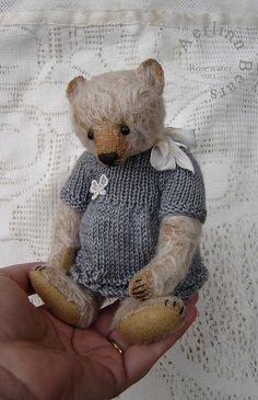 Rosewater, Collectible One Of a Kind Mohair Artist Teddy from Aerlinn Bears