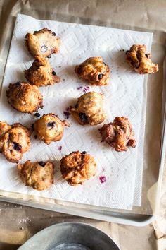 Wild Blueberry & Coconut Ricotta Doughnuts / Top with Cinnamon