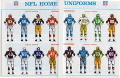 """""""You know, sometimes (always) simpler is better when it comes to NFL uniforms. Football Uniforms, Sports Uniforms, Football Memes, Football Cards, Nfl Football, School Football, American Football League, National Football League, Football Ticket"""