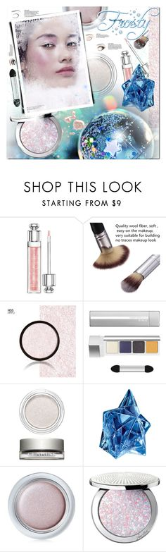 """""""Frosty Holiday Makeup"""" by wanda-india-acosta ❤ liked on Polyvore featuring beauty, Christian Dior, RMK, Clarins, Thierry Mugler, Shiseido and Guerlain"""