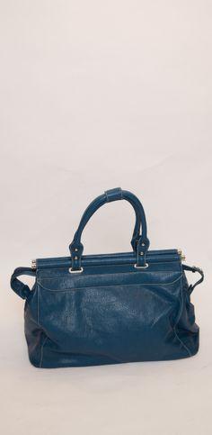 Teal faux leather holdall bag #handbag #danielli #dartmouth