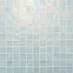 """Oceanside Glasstile...Collection Name: Tessera...Color Name: Pearl Iridescent 002...Item Description: 1 x 1 Field...Square Feet Per Sheet: .96...Sheet Size: 11 3/4"""" x 11 3/4""""...Thickness: .24""""...Sample Item Number: 2140"""