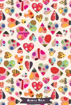 Antoana Oreski©2016 Valentine's wrapping paper pattern