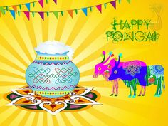 Pongal is a Hindu festival which is experimental by people of Tamil Nadu. This festival celebrate in 15 January 2016 (Friday). Pongal is . Happy Pongal In Tamil, Pongal Wishes In Tamil, Happy Pongal Wishes, Pongal Festival Images, Pongal Images, Pongal Celebration, Celebration Images, Greetings Images, Wishes Images