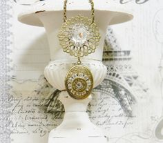 Your place to buy and sell all things handmade Bullet Shell Jewelry, Bullet Designs, Shell Necklaces, Locket Necklace, Unique Vintage, Vintage Inspired, Bracelet Watch, Shells, Bronze