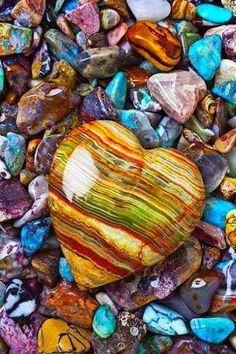 beautiful heart-shaped stone