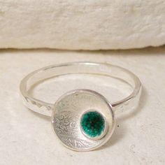 Silver Stacking Ring Modern Stacker Ring Hammered Metal by lukelys