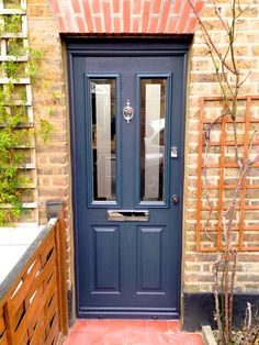 A modern grey composite door recently fitted by our team. Grey Composite Front Door, Grey Front Doors, Painted Front Doors, Front Door Colors, Garage Door Styles, Garage Door Design, Front Door Design, Garage Doors, House Front Door