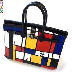 c388ec028 #tb to turning this Hermes Birkin into a Mondrian masterpiece! All about  the line