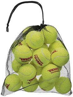 Tourna Mesh Carry Bag of Tennis Balls (Bag of 18 Balls) in Sports & Outdoors & Outdoors > Sports & Fitness > Team Sports > Tennis & Racquet Sports > Tennis > Balls Tennis Tips, Sport Tennis, Hot Tub Care Tips, Dog Ball Launcher, Diy Swimming Pool, Pool Fun, Racquet Sports, Carry On Bag, Sports Equipment