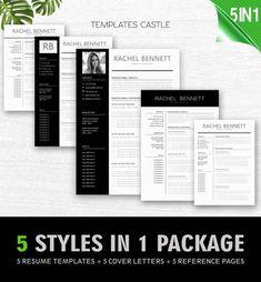 Modern Resume Template Word professional creative Cover Letter Templates cv design Instant Download Resume Bundle teacher nurse doctor txc17