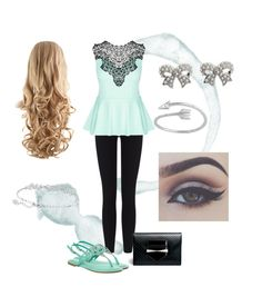 """""""Mint to be """" by mary-electra on Polyvore featuring James Perse, City Chic, Alexander McQueen, Swarovski and M&Co"""