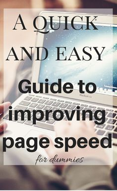 A quick and easy guide for improving your page speed - without needing any technical knowledge or having to touch code. Money Problems, Website Design Inspiration, Make Money Blogging, How To Make Money, Seo Tips, Social Media Tips, Your Website, Lifestyle Blog, Ebooks