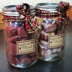 Candles By Victoria  Jar Full Of Buns, Jar Full Of Dough Nuts  http://www.candlesbyvictoria.com