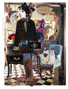 """lounge art"" by daizyjayne ❤ liked on Polyvore featuring art, fashionart and loungeart"