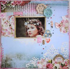 Key to My Heart with Hetty, Hilde Geraldine, Kelly-ann and Julianne Wooden Numbers, White Pen, Step Cards, Paper Doilies, Key To My Heart, Paper Hearts, Heart Cards, Scrapbooking Layouts, Flourish