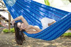 Keep smiling Thats our beautiful Colombian Double Hammock Carolina Azul Find all of our Products at www.lallax.de or Amazon.de  Follow us on TwitterPinterest or Facebook! #hammock #hamacas #hängematte #hammocktime #hammocklife #handmade #summerfeeling #relax #outdoor #garden #garten #interior #picoftheday #instagood #smile by @lallax_hammocks