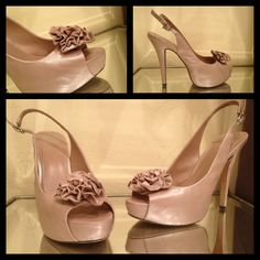 Shoe of the Day: @Vince Camuto Motion Peep-Toe Shimmery Nude Pump.