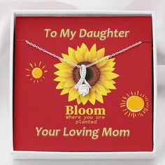To My Daughter Jewellery, Gift For Daughter From Mom, Alluring Beauty – Shiny Jewelry Charm