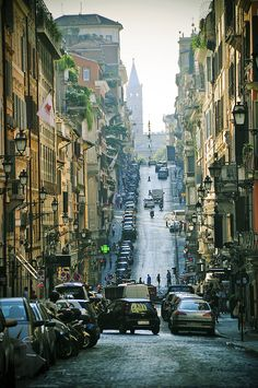 Via Sistina - Roma - The streets of Rome, Italy /// Places Around The World, Oh The Places You'll Go, Places To Travel, Places To Visit, Around The Worlds, Wonderful Places, Beautiful Places, Visit Rome, Rome Florence