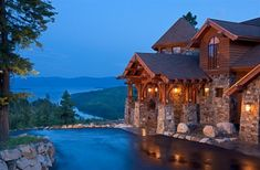 Love the view ! I want a tucked away log house!