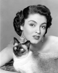 1950s hair inspiration Suzan Ball (3 February 1934-5 August 1955)