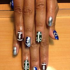 Hometown football team nails:) Go Ads!