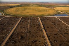 A feedlot in Finney County, Kansas. Crops here depend on water from the Ogallala Aquifer. Overuse is depleting the aquifer, a concern for farmers and ranchers in this part of the state, where corn and cattle are the major economic drivers.  why #vegan