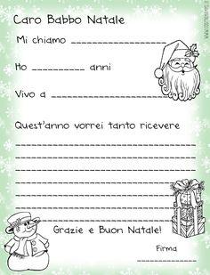Letterina precompilata per Babbo Natale by Cosedamamme