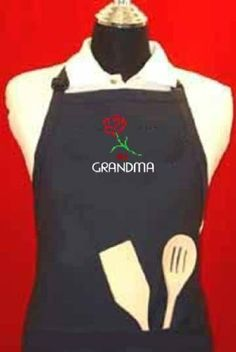 """# 1 Grandma"" Apron - Navy Blue Adjustable W/pockets Embroidered in the USA, By G4FF - Aprons for Men and Women, the Perfect Gift for the Greatest Grandma in Your Life G4FF,http://www.amazon.com/dp/B00FO81GF6/ref=cm_sw_r_pi_dp_nYvytb0NM3N4GYQX"