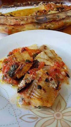 Greek Recipes, Fish Recipes, Recipies, Healthy Recipes, Greek Dishes, Fish Dinner, Yams, Fish And Seafood, Cooking Time