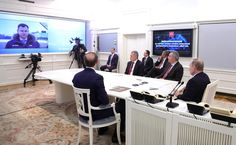 Videoconference. MIG-35 was introduced to the Russian President.