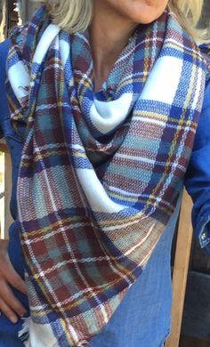 Blue Jean Blanket wrap/scarf - Pink Pineapple Shop