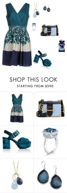 """Fashion!"" by mirelaaljic ❤ liked on Polyvore featuring Prada, Melissa Joy Manning, Ippolita and Giorgio Armani"