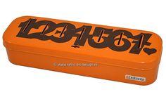Orange Brabantia household money box. Numbered 1 till 7Orange Brabantia moneybox.   A orange colored tin moneybox with brown letters from 1 till 7Een oranjekleurig blikken huishoudgeldkistje met bruine cijfers 1 tot en met 7 corresponding to seven compartments. From the 60s / 70s. In a fine vintage condition with some traces of use.  see: http://www.retro-en-design.co.uk/a-44379637/vintage/orange-brabantia-household-money-box-numbered-1-till-7/