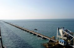 Train bridge to Rameshwaram--I was there in 1981 on our way to Ceylon!