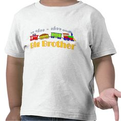 Big Brother Choo Choo Train Tshirt - Our Big Brother Choo Choo Train design features a cute colorful children's choo choo train and the words Big Brother in yellow. Shop for this design on baby and infant wear, apparel for toddlers and youth, and even on sizes for adults.