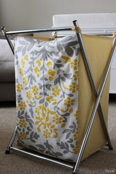 Tutorial for creating liner hamper -- great idea!   frames can be found at Ikea