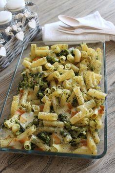 Pasta al forno broccoli e scamorza affumicata - BluMirtillo