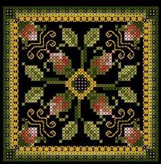 free cross stitch patterns - I've never tried stitching on black but this is gorgeous