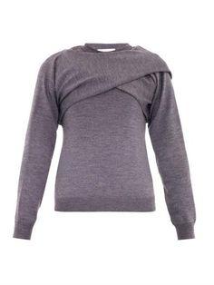 Draped merino-wool sweater | J.W. Anderson | MATCHESFASHION.COM