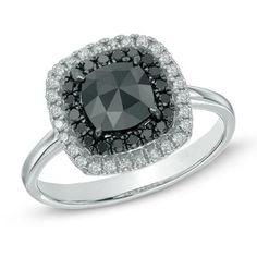 Bold black + shimmering white diamonds.