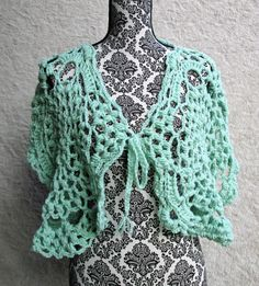 Crochet Mint Spring Shawl by DixiesChicksNThangs on Etsy